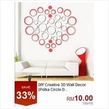 DIY Creative 3D Wall Decor (Polka Circle Design)
