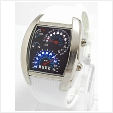 TVG RPM SPEEDOMETER AVIATOR LED RUBBER WATCH white