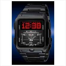 ORIGINAL WEIDE DUAL LED 839 FUL BL SPORT DIGITAL ANALOG WATCHWARRANTY!