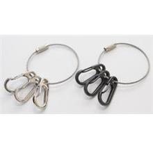 Alloy EDC Snap Clip with  Stainless Steel Wire Keyring Loop