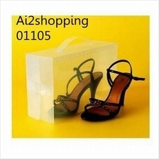 01105Crystal transparent shoe box Female size is more convenient to fi..