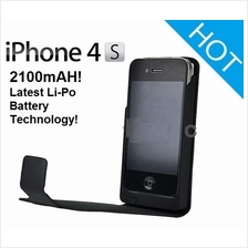 Iphone 4 4S power pack leather case extended battery power bank  2100m
