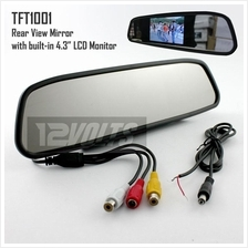 Rearview Mirror w/ Built-in 4.3' Monitor for Reverse Camera