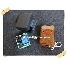 Home Auto Gate 12v 10A relay 1CH wireless RF Remote + Controller