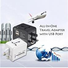2.1A Dual USB Universal Smartphone Charger Travel Adapter