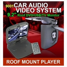 HD Quality 9.2 Roof Monitor DVD/ DIVX/ MP4/ MP3/ CD/ SD/ USB Player