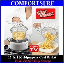 12-In-1 Magic Chef Basket for Boil Steam Cook Fry Foods + FREE GIFT