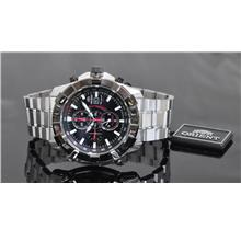 Orient Chronograph Watch with Black PVD CTD10002B