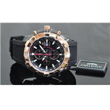 Orient Chronograph Watch with Black PVD CTD10001B