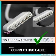 PREMIUM 30 PIN TO USB DATA CABLE APPLE IPHONE 4S/4/3GS/3G/3 IPAD 2/3/4