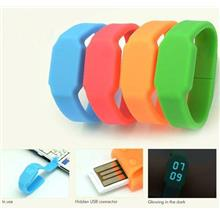 Unique 4GB USB DRIVE with LED WATCH SILICONE SPORT WATCH