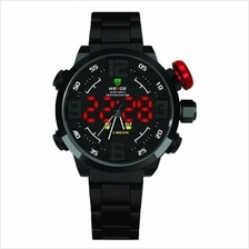 Weide WH2309 Full Black Analaog/Digital Sport LED Watch Red