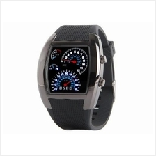 ORIGINAL TVG RPM SPEEDOMETER AVIATOR LED RUBBER WATCH