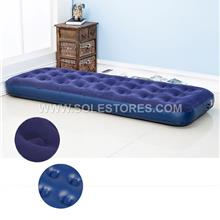 Flocked Coil Beam Inflatable Single Air Bed Mattress