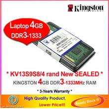 KINGSTON 4GB DDR3-1333 LAPTOP / NOTEBOOK RAM Memory
