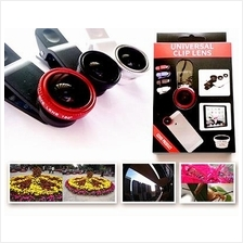 3 in 1 Photo Lens Macro Lens + Fish Eye + Super Wide Universal Phone