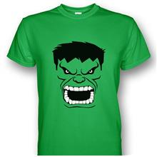 The Incredible Hulk Face Green T-shirt