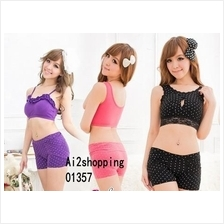 01357Japan sweet hip shaping Polka Dot Shorts Body