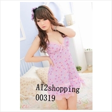 00319Quality sweet princess strap sexy nightgown flowers(Free
