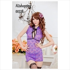 00338Sex Role Playing classic lace nightgown sexy qipao+thong