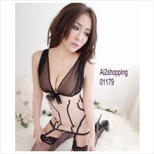 01179New Sexy Lingerie Lace Corset +G-string(with garter)