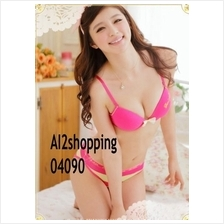 04090Korean sweet bow cotton sexy underwear  Bra suit