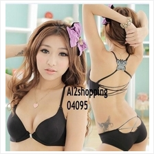 04095Korean behind cross butterfly sexy bodysuit Bra suit
