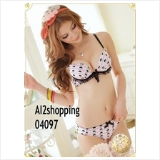 04097Korean the lady most Ailei Si Heart sweet underwear Bra suit