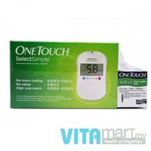 One Touch Select Simple Blood Glucose Monitoring System Free 50 Strips