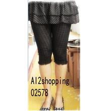 Limited special flounced cotton hollow-fifth of Pants02578
