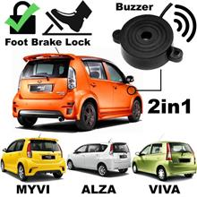 MYVI, ALZA & VIVA: SMART STAR Alarm Buzzer Siren & Foot Brake Lock