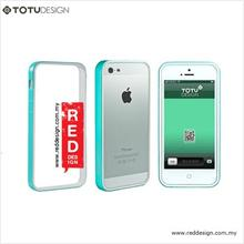 Totu EVQUE Series Ultra Slim Bumper Case for iPhone 5 - Blue Green Whi