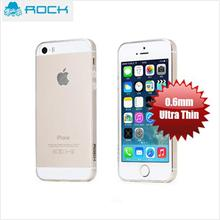 Rock Ultra Thin Anti Dust Soft TPU 0.6mm Case for iPhone 5S - Clear