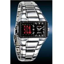 ORIGINAL WEIDE dual time LCD DISPLAY wh-909 uniq black silver SPORT DI