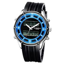 EYKI Overfly EOV8569 Digital Analog Dual Time Rubber Watch Blue