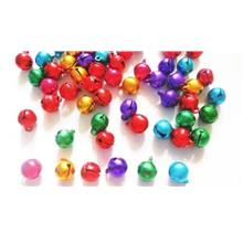 100 pcs 9mm bell charm bead findings mix color