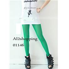 Wild candy-color micro-through Trouser Pants&Shorts01146-Green