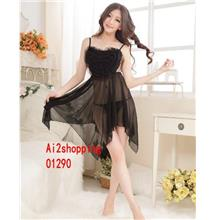 01290New 3D hearts Sexy chest lace nightgown+Thong