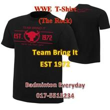 WWE WWF T Shirt Baju (The Rock Team Bring It) WRESTLING GUSTI