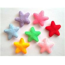 100 pcs - Cute Felt Star Padded Appliques - mix color - size 25 mm