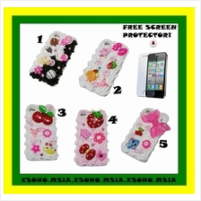 iPhone 4 4S Funky Cake Lovely Case Cover *FREE SP*