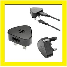 Blackberry Torch 9800 9810 9860 Pearl 3 Pin Wall Travel Charger + USB