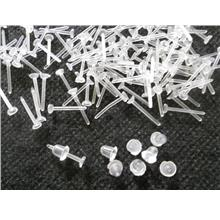 100 pcs (50 pairs)   Tiny Pad DIY PVC Earrings for jewelry findings
