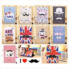 iPad 2 3 4 WiFi 3G MUSTACHE SMART Leather Thin Case Cover *FREE SP*