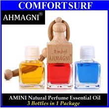 3 Bottles Amini AHMAGNI Natural Car Perfume Essential Oil