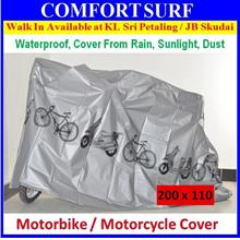 Motorbike Bicycle Scooter 100% Waterproof Rain Dust Sunlight Cover M/L