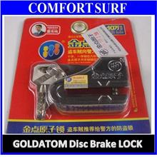 GOLDATOM 1501 Steel Motorbike Disc Brake Anti-Theft Lock with Keys