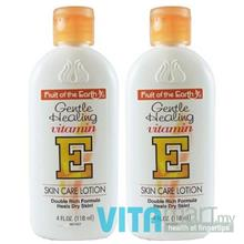 Fruit of the Earth Gentle Healing Vitamin E Skin Care Lotion 2 x 118ml