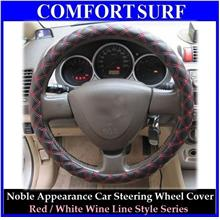 Red/White Wine Series Car Steering Wheel Cover Protective Case