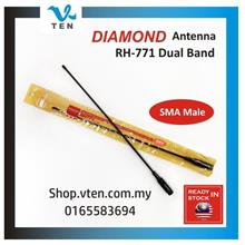 Diamond RH-771 SMA Male UHF&VHF antenna for Yaesu PUXING TYT Wouxun